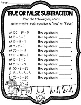 Emergency Sub Plan - First Grade: Math & English Language Arts (NO PREP!)