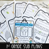 Emergency Sub Plan for First Grade - Math and ELA (Common Core & NO PREP!)