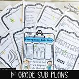 Sub Plans for First Grade Math & ELA NO PREP