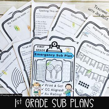Emergency Sub Plan - First Grade: Math & English Language