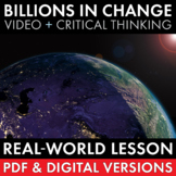 Billions in Change, Emergency Sub Plan, Print-and-Teach Video Lesson, CCSS