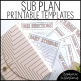 Emergency Sub Plan Template