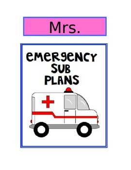 Emergency Sub Plan Template-EDITABLE