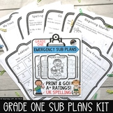 Emergency Sub Plan for Grade One: Math & ELA - Canada/Aust