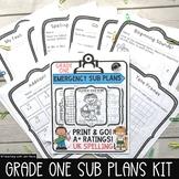 Sub Plans for Grade One: Math & ELA -UK English