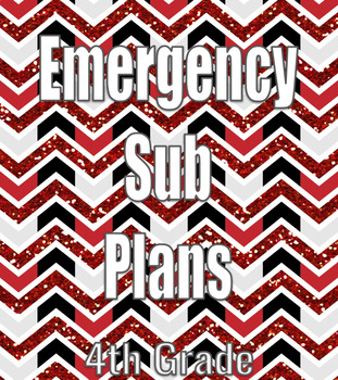 Emergency Sub Plans- 2 Days in 4th Grade
