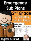 Distance Learning Emergency Sub Plans 2nd Grade