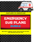 Emergency Sub Plans: 3 Days of Lesson Plans