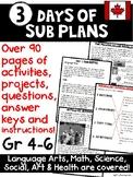 Emergency Sub Plans (3 days)