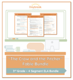Emergency Sub Plans: 3rd Grade: ELA: Fable: The Crow and the Pitcher