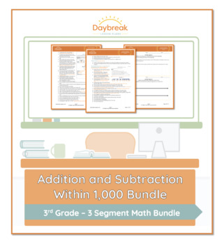 Emergency Sub Plans: 3rd Grade Math: Addition and Subtraction within 1000