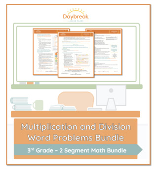 Emergency Sub Plans: 3rd Grade Math: Multiplication/Division Word Problems