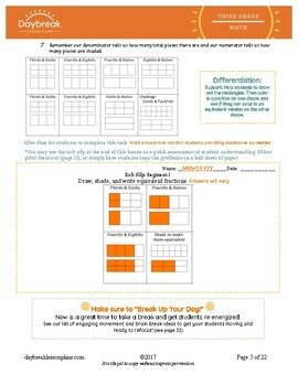 Emergency Sub Plans: 3rd Grade Math: Numbers & Fractions