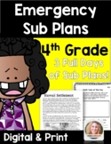 Distance Learning Emergency Sub Plans 4th Grade