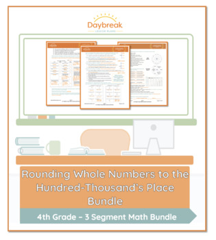 Emergency Sub Plans: 4th Grade Math: Rounding Whole Numbers
