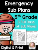Distance Learning Emergency Sub Plans 5th Grade