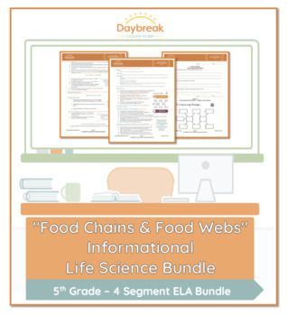 Emergency Sub Plans: 5th Grade ELA: Food Chains & Food Webs
