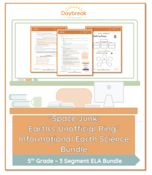 Emergency Sub Plans: 5th Grade ELA: Space Junk: Earth's Unofficial Ring