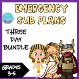 Emergency Sub Plans -  A 3 Bundle Set (Egypt, Vikings, and