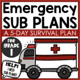 Emergency Sub Plans - A 5-Day Survival Plan for K-1 Teachers