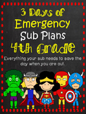 4th Grade Sub Plans - An Emergency Sub Binder