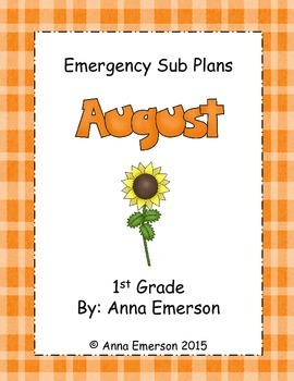 Emergency Sub Plans: August for First Grade
