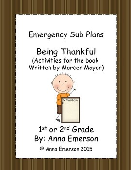 Emergency Sub Plans: Being Thankful