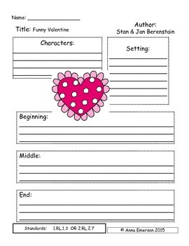 Emergency Sub Plans: Berenstain Bears Funny Valentne  for First or Second Grade