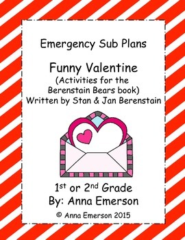 Emergency Sub Plans: Berenstain Bears Funny Valentne  for