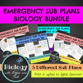 Emergency Sub Plans Bundle 2 (Set of 5)