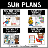 Emergency Sub Plans for Sub Tub   3rd and 4th grade