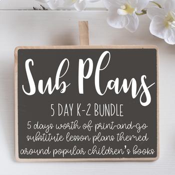 Emergency Sub Plans Bundle ***5 days***