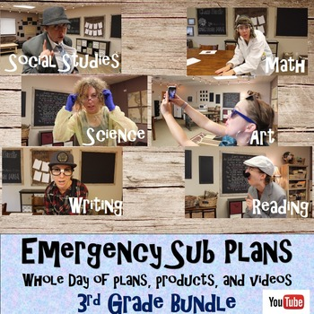 Emergency Sub Plans Bundle- Whole Day-3rd grade