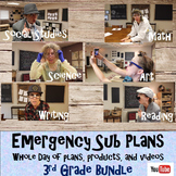 Emergency Sub Plans Bundle- Whole Day-3rd grade
