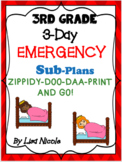 Emergency Substitute Plans Bundle for 3rd Grade (3 days)