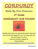 Emergency Sub Plans Corduroy - 1st Grade