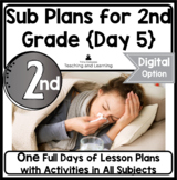 Emergency Sub Plans Day Five for 2nd-3rd-Grade Teachers