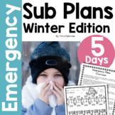 Emergency Sub Plans Bundle for 2nd-3rd-Grade Teachers Winter Edition