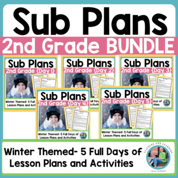 Emergency Sub Plans Bundle for 2nd-3rd-Grade Teachers Winter Edition