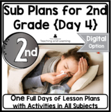 Emergency Sub Plans Day Four for 2nd-3rd-Grade Teachers