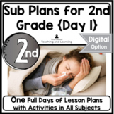 Emergency Sub Plans   Day One   2nd Grade
