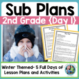 Emergency Sub Plans Day One for 2nd-3rd-Grade Teachers Winter Edition