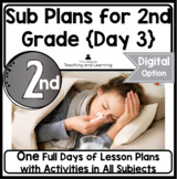 Emergency Sub Plans Day Three for 2nd-3rd-Grade Teachers