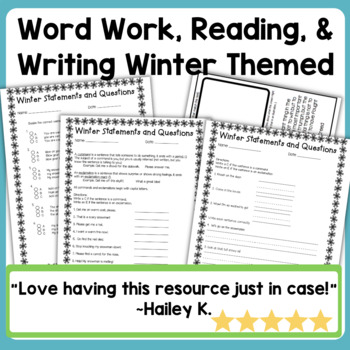 Emergency Sub Plans Day Three for 2nd-3rd-Grade Teachers Winter Edition