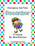 Emergency Sub Plans: December for Second Grade