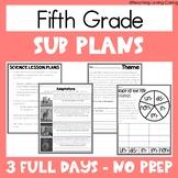 Emergency Sub Plans - Fifth Grade