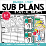 1/2 Price Emergency Sub Plans First Grade