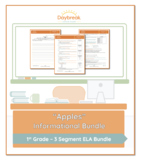 Emergency Sub Plans: First Grade: ELA Informational: Apples