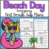 Emergency Sub Plans-First Grade Beach Day!