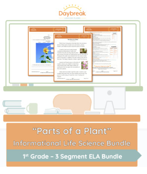 Emergency Sub Plans First Grade Life Science Study The Parts of a Plant